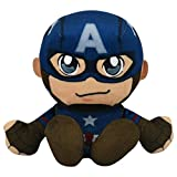 Bleacher Creatures Marvel Captain America 8' Kuricha Sitting Plush - Soft Chibi Inspired Toy