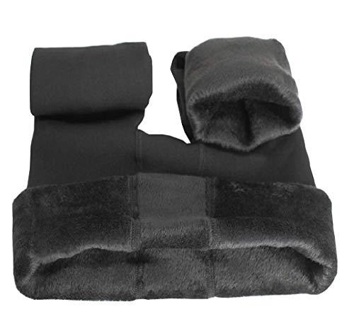 Ouye Damen-Thermo-Leggings, lang, mit Fleece-Futter Gr. One size , dunkelgrau