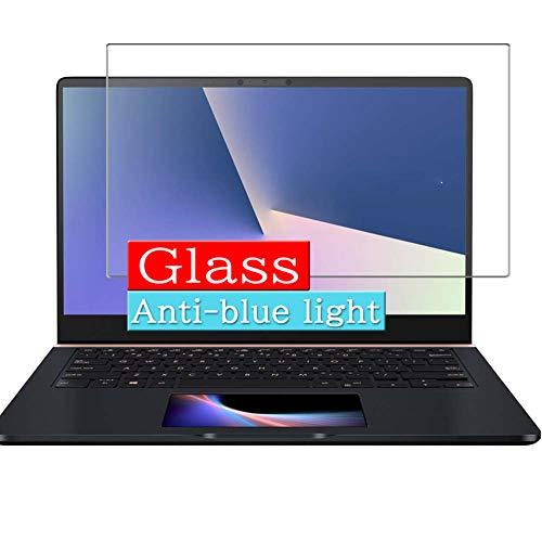 VacFun Anti Luce Blu Vetro Temperato Pellicola Protettiva, Compatibile con ASUS ZenBook PRO 14 UX480FD Visible Area, Protezioni Schermo Cover(Non Piena Copertura)