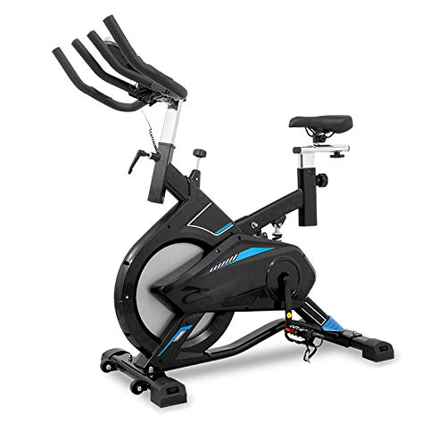 CloverFitness Clover Titanium Bicicleta de Ciclo Indoor, Adultos Unisex, Negro y Azul, Talla única