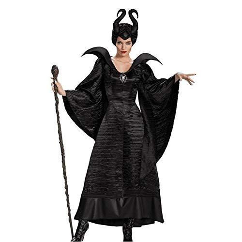 YEDDA Disfraces de Halloween for Las Mujeres, Vestida del Traje de Diablo de Halloween for Las Mujeres, de Cuernos del Traje de Halloween del Traje de Las Mujeres de la Hembra Adulta del Traje de la