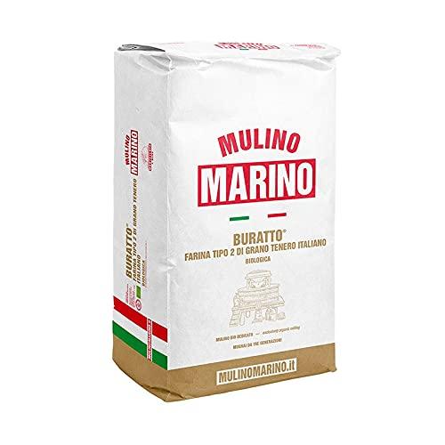 """Mulino Marino - Buratto, Farina Bio Grano Tenero """"Tipo 2"""" 5 kg - Mulino Marino"""