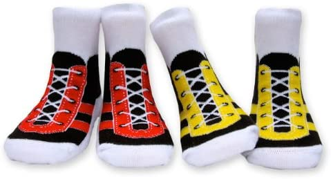 MumMe Unisex Organic Cotton Shoe Sock Set (2 Pairs), Sneakers