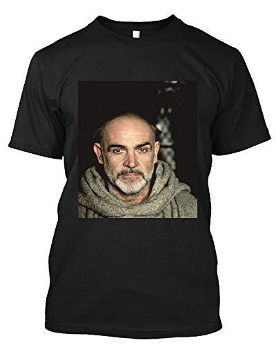#Sean #Connery #Monk #Outfit Grey Beard Piercing Eyes T Shirt Gift Tee for Men Women Unisex T-Shirt (Black-2XL)