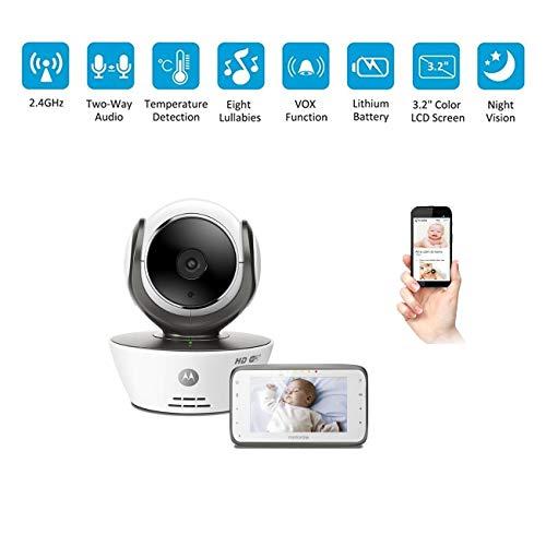 BABY MONITOR ZLMI Moniteur de bébé réseau sans Fil à Distance caméra Unique à Deux Voies intercom de détection Mobile d'alarme Compatible avec Android/iOS 270 ° lentille rotative en Trois Dimensions