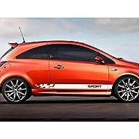 車のステッカー自動両面ストライプ装飾スタイリングデカール自動車スポーツチューニングカーアクセサリー