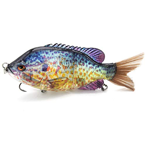 5.9-10in Multi Jointed Swimbait Fishing Lures Bait,2 4 8 Segment Big Giant Sinking Fishing Bass Lures,Crankbaits Swimbaits with Treble Hook …
