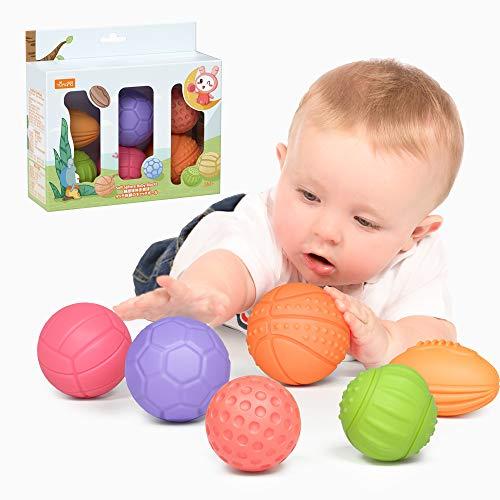 TUMAMA Jouets pour bébés 0-6 Mois Balles d'empilage pour...