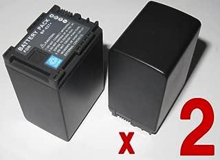 【バッテリー 2個セット】 Canon BP-827 / BP-827D 互換バッテリー iVIS HF G20 M41 M43 HF11 HF21 S10 S11 S21 等対応