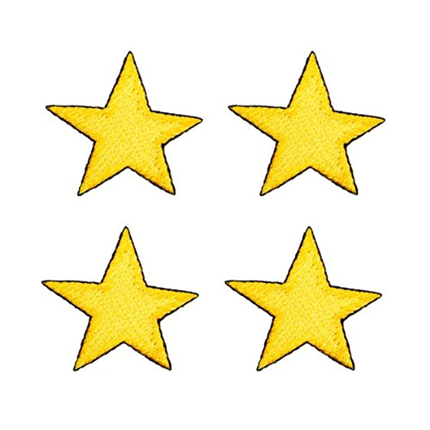 Expo Iron-on Embroidered Applique Patches, BaZooples Star, 4-Pack
