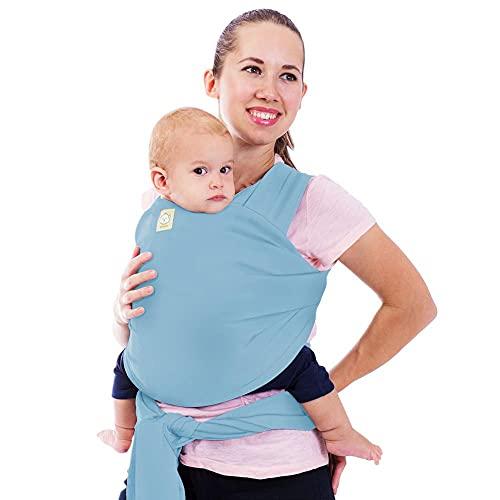 Babywickeltrage - alles in 1 dehnbaren Babytragetuch - Ergo-Tragetuchtragetuch - Babytragenetui - Babytragen für Neugeborene, Kleinkinder - Babyhaltergurte - Babytragetücher (Baby Blau)