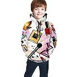 Delerain Cosmetics Sudaderas con capucha para niños adolescentes con bolsillos - - X-Large