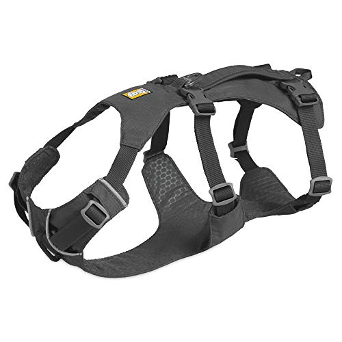 RUFFWEAR, Flagline Lightweight Multi-Purpose Harness for Dogs, Granite Gray, Large/X-Large