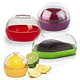 Happy Sales HSVK4, Onion, Tomato, Citrus, and Avocado Keeper 4-piece Bundle. BPA FREE