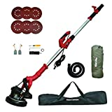 Drywall Sander, SMADRON 6A 750W Wall/Ceiling Sander With Vacuum System, 800-1800RPM 7 Speed Variable Electric Grinding Machine with LED Light, Extendable Head and 6 Sanding Discs