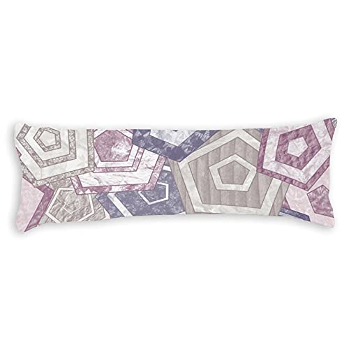 Fundas de almohada para el cuerpo de 1,4 m con cremallera patrón de granja vintage almohada de algodón funda de almohada de cuerpo suave para embarazo, niños adultos