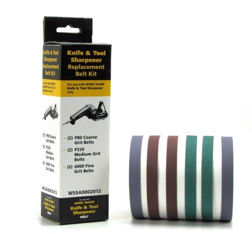 Work Sharp Schärfgerät und Band Sortiment Körnungen 80 220 6000 - Afilador de Cuchillos, Color Multicolor