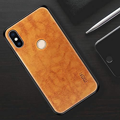 Liluyao Funda telefónica para Xiaomi MOFI a Prueba de Golpes de Goma PU PC para Xiaomi Mi Mix 2S (Color : Marrón Claro)