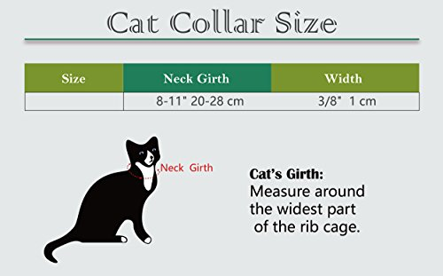 KOOLTAIL Purple Heart Bling Cat Collar with Safety Belt and Bell 8-11 Inches