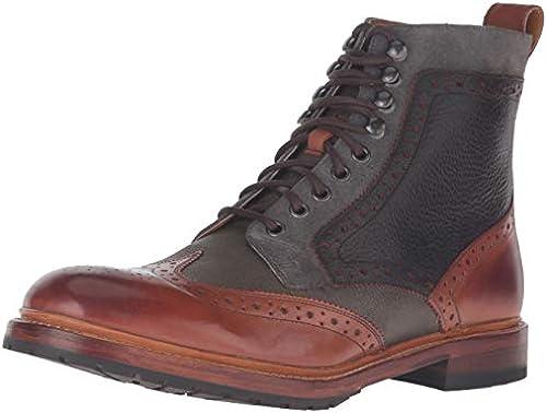 STACY ADAMS Men& 039;s Madison II Wingtip Lace Stiefel Cognac Multi Stiefel 11.5 D