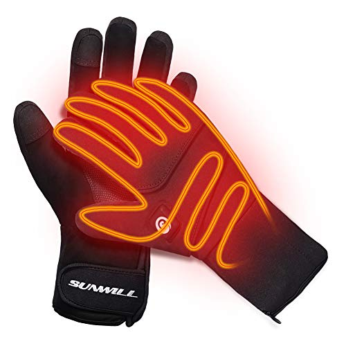 Heated Gloves,Men Women Rechargeable Electric...
