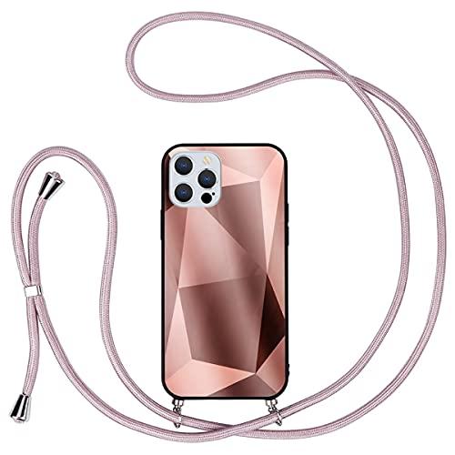 ZhuoFan Funda con Cuerda para Apple iPhone 7/8 / SE 2020 [4,7'], TPU Bumper+[Back Cover con PC Material] Ajustable Colgante Cordon Colgar Correa de Cuello Case para Apple iPhone 7/8, Albaricoque