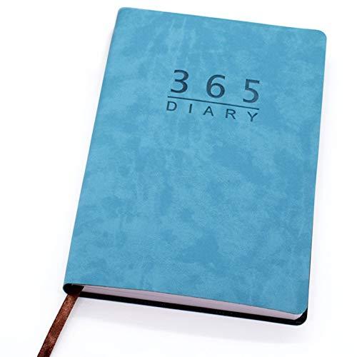 365 Giorni Agenda 2021, Giornaliera Agenda Calendario Notebook con 312 pagine Custodia in Pelle PU per Home Office Forniture per Studenti A5 Taglia Blu