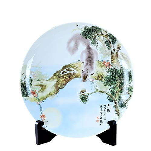 PORCN Jingdezhen Piastra in Ceramica Decorazione Decorazione della Piastra Creativo Soggiorno Jihu Xianrui