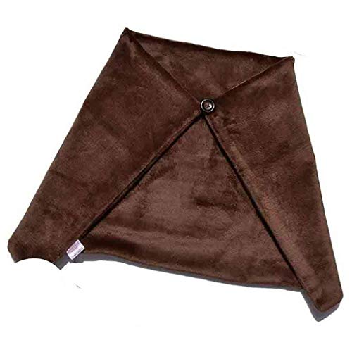 AISHANG Manta térmica con Almohadilla térmica de Chal con calefacción USB, Temperatura Ajustable Lavable Soporta USB para Silla de sofá de Oficina de Coche, marrón