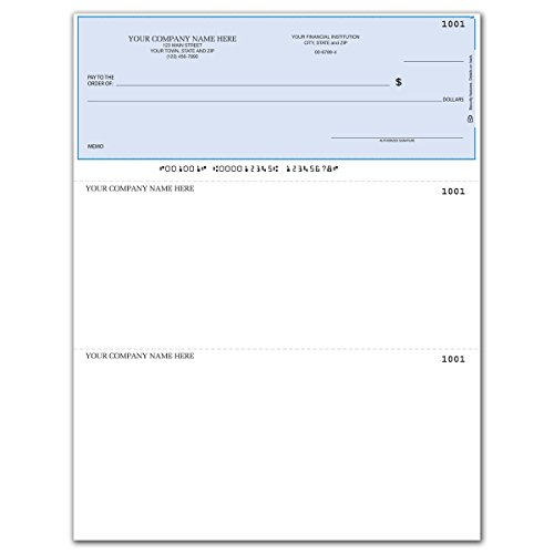 CheckSimple Laser Business Checks, Compatible with QuickBooks/Quicken - Top Format, Lined (1000 Qty) - Custom