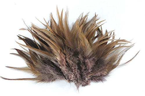 ノーブランド品 染め羽根 100枚 雉の羽根 10-15CM 工芸品 DIY 装飾用の羽根 茶色