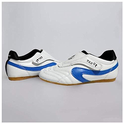 JINFAN Tai Chi Schuhe Für Frauen Männer Atmungsaktive Schuhe Taekwondo Karate Kung Fu Kampfschuhe Frau Kampfkunst Männer Erwachsene Und Kinder Weiche Tai Chi Turnschuhe,Blue-42EU