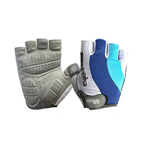 Guantes de ciclismo Guantes antideslizantes para montar sin dedos Mitón de ciclismo de carretera MTB transpirable que absorbe los golpes para hombres / mujeres, adecuado para levantamiento de pesas, e