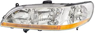Headlight Lens and Housing Compatible with 1998-2000 Honda Accord Coupe/Sedan Driver Side
