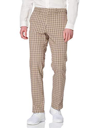 Tommy Hilfiger Denton Gingham Check Jeans, Beige, W28 / L36 Homme