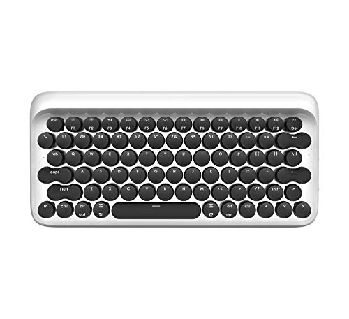 Retro Wireless Keyboard, Bluetooth/USB Mechanical Keyboard with Four Different Backlit Settings and Auto-Sleep Model, Backlit Keyboard Work with Mac & Windows and Android & iOS, Pair up to 3 Devices