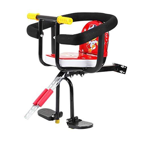 M-YN Asiento de Bicicleta para niños Asiento de la Bicicleta Infantil Cojín de Seguridad for niños con Respaldo Silla Pedales Bicicleta de Seguridad del Deporte al Aire Libre del Asiento Protect