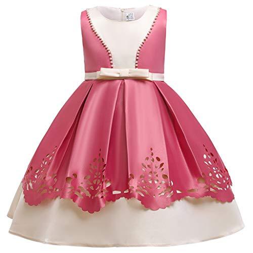 Carnaval Deguisement, Kolylong Costume Fille Princesse Robe Robe de soirée Chic Rose 150