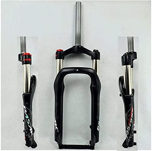 WBXNB Bicicletas tenedor 20 pulgadas BMX aleación de magnesio frenos de disco bicicletas suspensión aire horquilla viaje 100 mm 1-1/8 'para 4.0 neumáticos de grasa