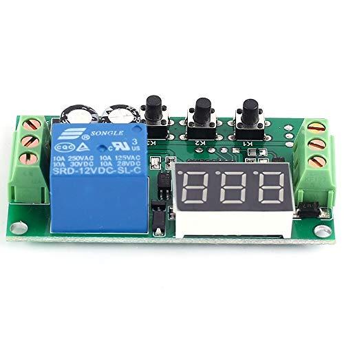 YEZIB Módulo de relevo Módulo de relé Multifuncional de retardo de Disparo de Alto Nivel el Controlador de Lazo de 12 V DC para el Voltaje de Control