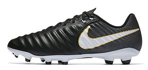 Nike Tiempo Ligera IV FG, Botas de fútbol Hombre, Negro (Black/White/Black/Metallic Vivid...