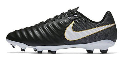 Nike Tiempo Ligera IV FG, Botas de fútbol para Hombre, Negro (Black/White/Black/Metallic Vivid Gold), 40.5 EU
