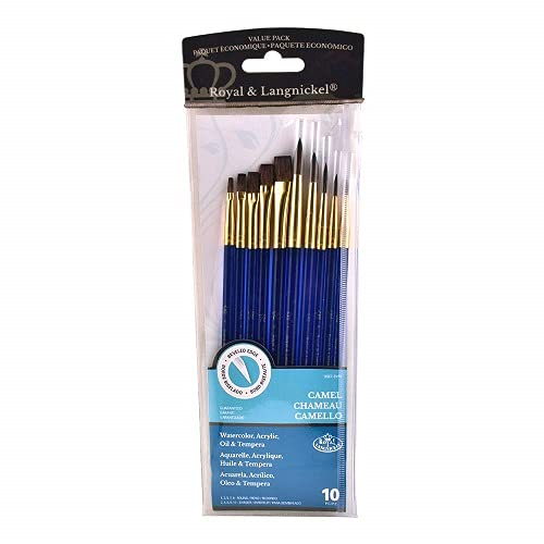 Royal and Langnickel Sable Super Value Brush Set (1 Pack of 10 brushes )
