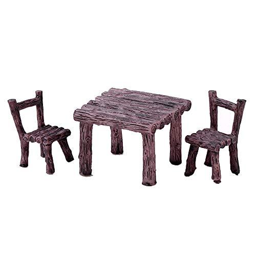 Dragonface Tisch Stuhl Harz-Fertigkeit Micro Landschaft Ornament Fee Miniatur Terrarium Figurine Bonsai-Topf Home Garten Dekoration (Typ2)