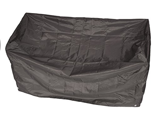 Abdeckhaube Schutzhülle für Bank 2-sitzer 134cm, Premium Ausführung 600D Polyester, grau