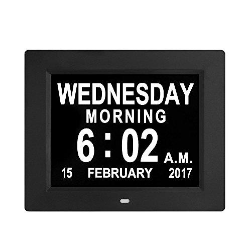 Digital Clock,New Digital Wall Clock with Alarm Clock, Kitchen LED Clock with Electronic Calendar (Black)
