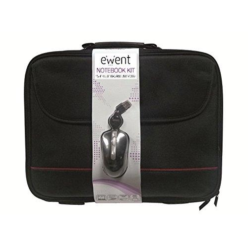 Ewent EW2505 Kit Borsa per Notebook Briefcase 15.6  + Mini Mouse Ottico 1000dpi USB 3 tasti