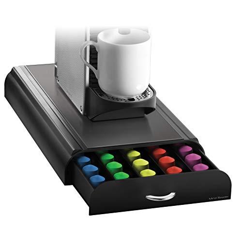 Suporte de cápsulas Anchor Nespresso Mind Reader NESTRY4PC - 23 cm x 40 cm x 6 cm, preta