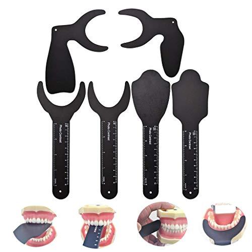 Tablero de Fondo Negro de Contraste de Foto Dental, Espejo f