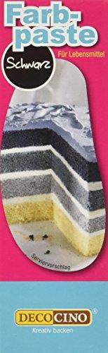 Dekoback Lebensmittelfarbe Schwarz Paste, 1er Pack (1 x 25 g)